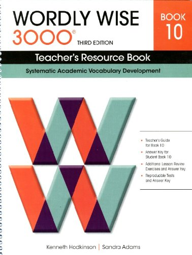 9780838876237: Wordly Wise Book 10 Teacher's Resource Book