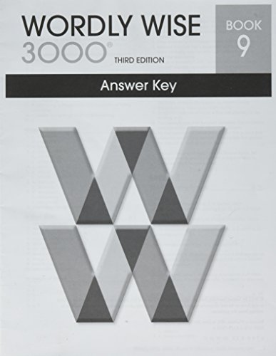 9780838876350: Wordly Wise 3000 Book 9 Answer Key Booklet (Systematic Academic Vocabulary Development)