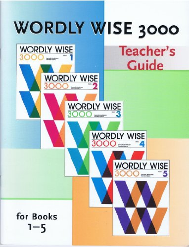 9780838881262: Wordly Wise 3000 (Teacher's Guide, for books 1-5)