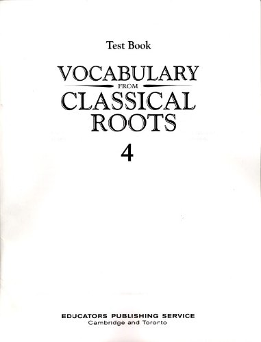 9780838882658: Vocabulary from Classical Roots Test