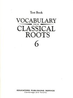9780838882672: Vocabulary from Classical Roots Test