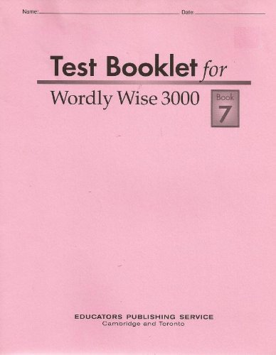 9780838883372 Wordly Wise 3000 Grade 10 Book 7 Abebooks