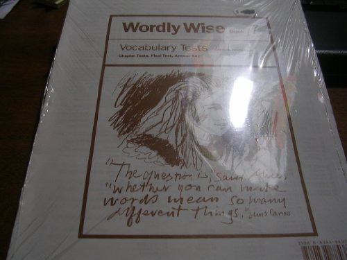 9780838884379: Wordly Wise - Tests