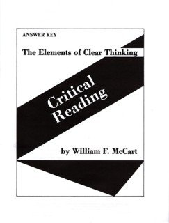 9780838891698: The Elements of Clear Thinking: Sound Reasoning - Answer Key
