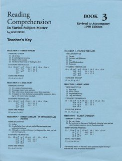 9780838896020: Reading Comprehension 3 Grd 5 Key