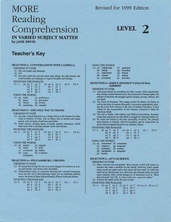 9780838896075: More Reading Comprehension Level 2 - Answer Key