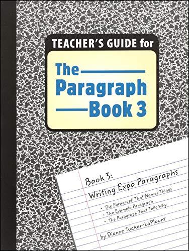 9780838896730: Paragraph Book Teacher Book 3 Grd 5-8
