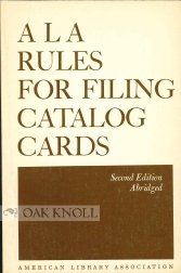 9780838900017: Ala Rules for Filing Catalog Cards