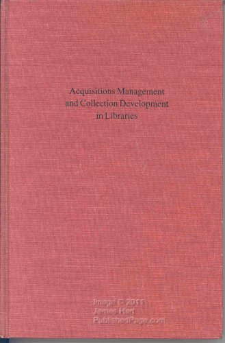 9780838904084: Acquisitions Management and Collection Development in Libraries