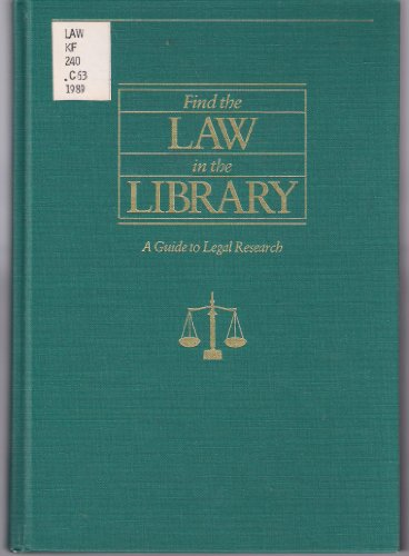 Find the Law in the Library: A: John Corbin