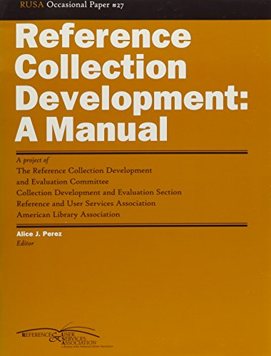 9780838982778: Reference Collection Development: A Manual (Rusa Occasional Papers)