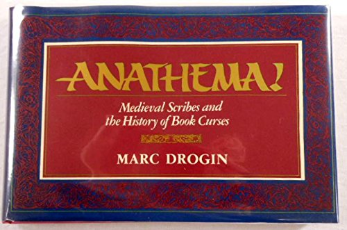 9780839003014: Anathema!: Mediaeval Scribes and the History of Book Curses