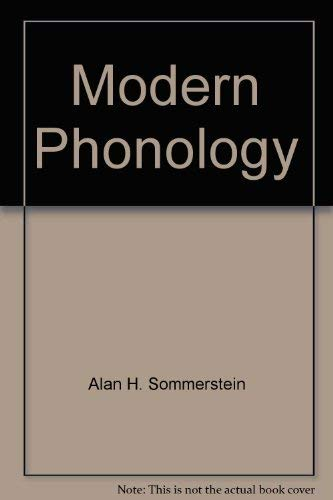 Modern phonology (Theoretical linguistics): Sommerstein, Alan H