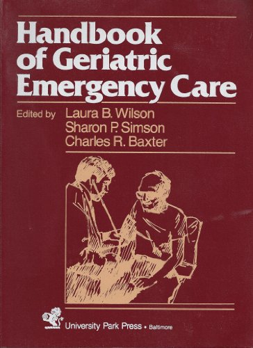 9780839118855: Handbook of Geriatric Emergency Care