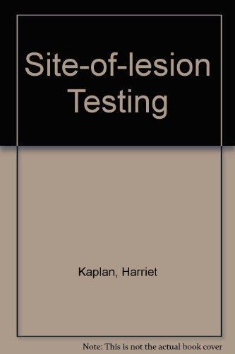 Site of Lesion Testing (Audiometric Interpretation, Vol.: Harriet Kaplan, Vic