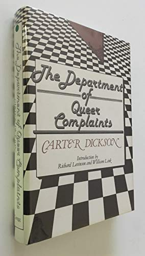 9780839827399: The department of queer complaints (The Gregg Press mystery fiction series)