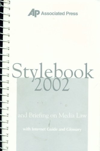 9780840008381: Associated Press Stylebook 2002, and Briefing on Media Law with Internet Guide and Glossary, 37th Edition