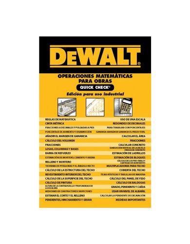 9780840021939: DEWALT Operaciones Matematicas Para Obras Quick Check (DEWALT Series)