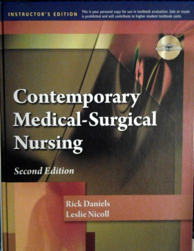 9780840022165: Contemporary Medical Surgical Nursing[Instructor's Ed. of 2nd ed.