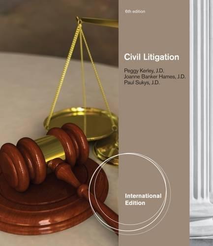 9780840023971: Civil Litigation