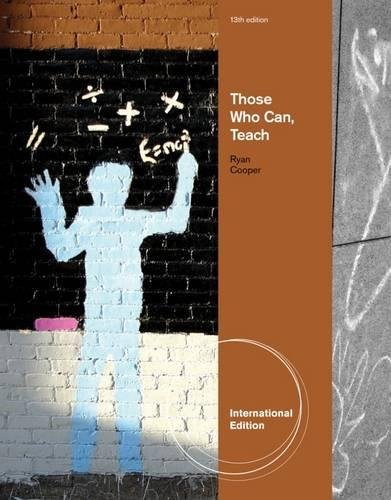 9780840028761: Those Who Can, Teach, International Edition
