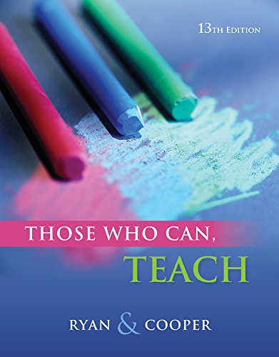 9780840028778: Cengage Advantage Books: Those Who Can, Teach