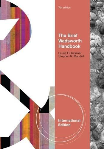 9780840028815: The Brief Wadsworth Handbook, International Edition