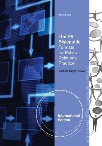 9780840028921: The PR Styleguide. Barbara Diggs-Brown