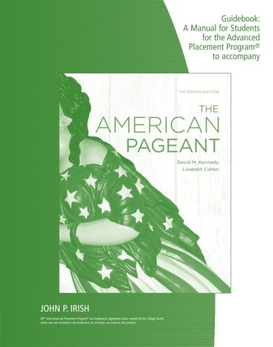 9780840029041: The American Pageant Guidebook: A Manual for Students for the Advanced Placement Program