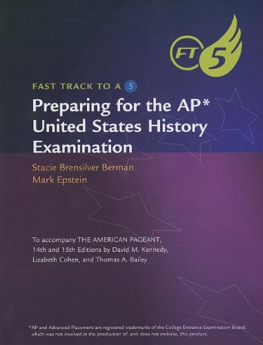 9780840029058: Preparing for the AP United States History Examination (Fast Track to a 5)