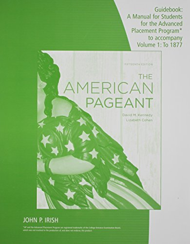 9780840029065: Guidebook: A Manual for Students for the Advanced Placement Program to Accompany the American Pageant, 15th Edition