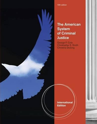 9780840029324: The American System of Criminal Justice, International Edition