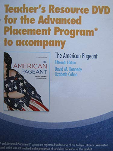 9780840029621: The American Pageant Teacher Resource DVD for Ap