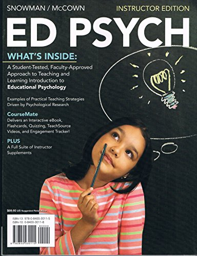 9780840030115: ED PSYCH INSTRUCTOR EDITION (ED PSYCH)