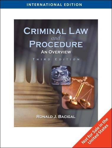 9780840031150: Criminal Law and Procedure: An Overview, International Edition