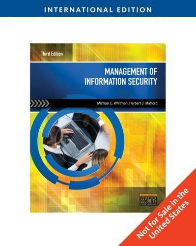 9780840031600: Management of Information Security, International Edition
