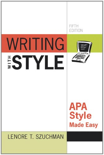 9780840031679: Writing with Style: APA Style Made Easy