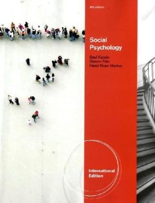 9780840031723: Social Psychology, International Edition