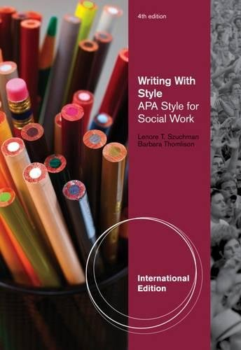 9780840031990: Writing With Style: APA Style for Social Work, International Edition