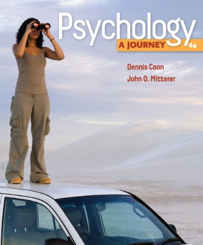 9780840032225: Study Guide for Coon/Mitterer's Psychology: A Journey, 4th