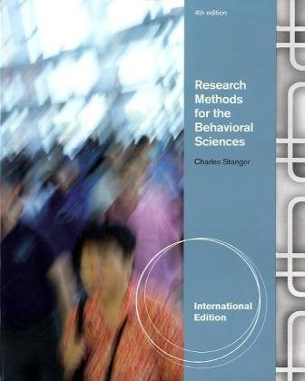9780840032461: Research Methods for the Behavioral Sciences, International Edition