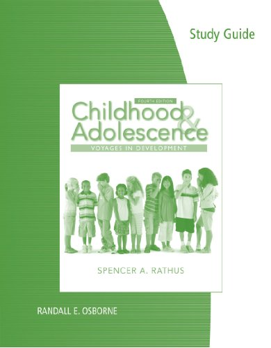 9780840032522: Study Guide for Rathus' Childhood and Adolescence: Voyages in Development, 4th
