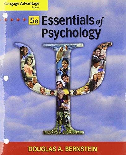 Cengage Advantage Books: Essentials of Psychology: Bernstein, Douglas