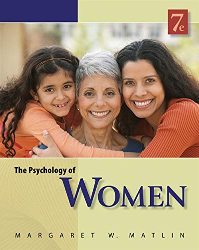 9780840032898: The Psychology of Women (PSY 477 Preparation for Careers in Psychology)