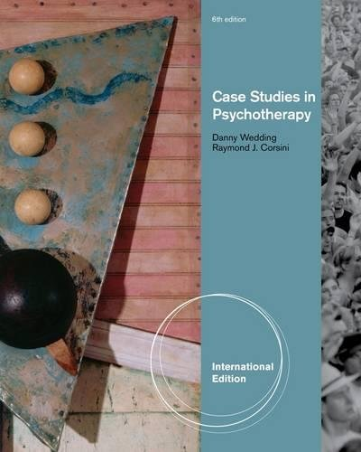 9780840032928: Case Studies in Psychotherapy,