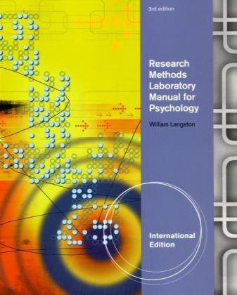 Research Methods Laboratory Manual For Psychology W Infotrac,3Ed: Langston