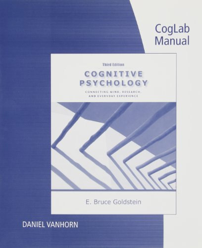 9780840033543: CogLab Manual with Printed Access Card for Cognitive Psychology: Connecting Mind, Research and Everyday Experience, 3rd