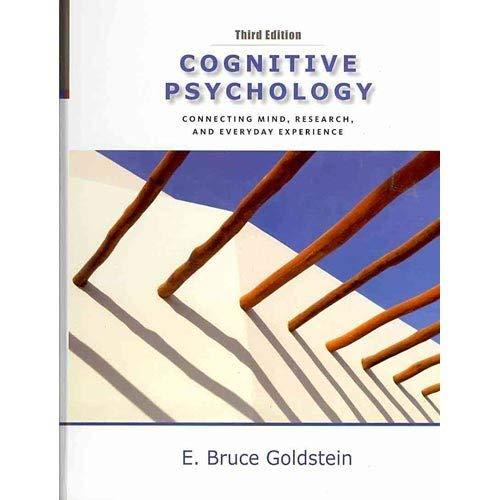 9780840033574: Cognitive Psychology Instructors Edition 3e