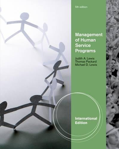 9780840034281: Management of Human Service Programs, International Edition