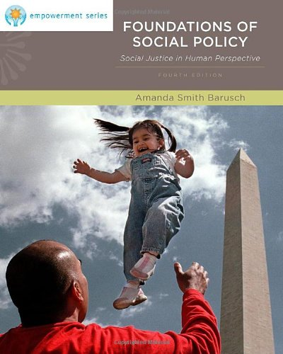 9780840034380: Foundations of Social Policy: Social Justice in Human Perspective (Brooks/Cole Empowerment Series) (SW 323K Social Welfare Programs, Policies, and Issues)